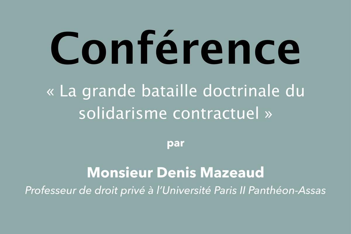 Image - La grande bataille doctrinale du solidarisme contractuel